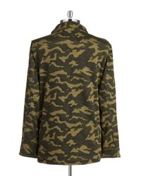 Lord & Taylor | Green Camoflauge Military Jacket | Lyst