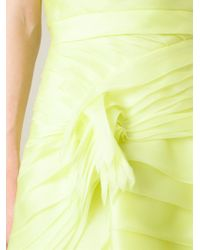 Ermanno Scervino - Yellow Strapless Ruffled Evening Dress - Lyst