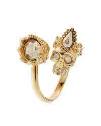 Alexander McQueen - Metallic Embellished Ring - Gold - Lyst