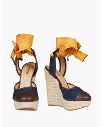 DSquared² - Blue Espadrillas Wedges - Lyst