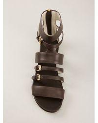 MICHAEL Michael Kors - Brown Winston Flat Sandal - Lyst