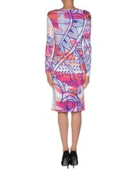 Emilio Pucci - Purple Knee-length Dress - Lyst