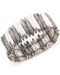 Jones New York - Metallic Two-tone Bar Stretch Bracelet - Lyst