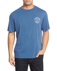 Vineyard Vines | Blue 'flatboat Fishing' Graphic Crewneck T-shirt for Men | Lyst