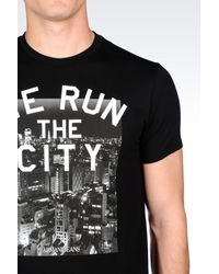 Armani Jeans - Black City Print T-shirt for Men - Lyst