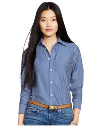 Polo Ralph Lauren | Blue Striped Button-front Shirt | Lyst