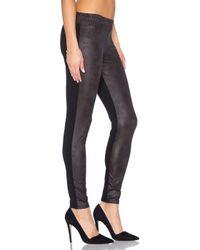 Monrow | Black Soft Leather Half Half Legging | Lyst