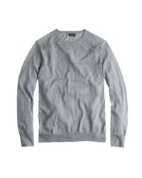 J.Crew - Gray Lightweight Italian Merino Wool Sweater for Men - Lyst