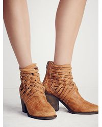 Free People | Brown Carrera Heel Boot | Lyst