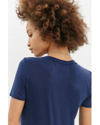 Project Social T | Blue Slick Tee | Lyst