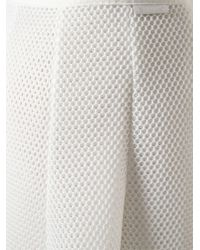Moncler | White Raw Cut Mesh Skirt | Lyst