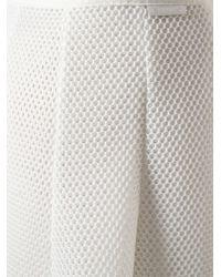 Moncler | White Raw Cut Mesh Skirt | Lyst