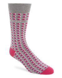 Ted Baker - Pink Geometric Pattern Socks for Men - Lyst