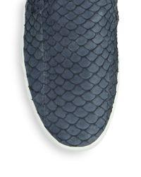 Joie - Blue Huxley Python Skate Shoes - Lyst