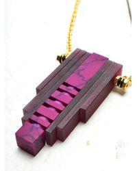 Lily Kamper | Multicolor Elevator Pendant In Purples | Lyst