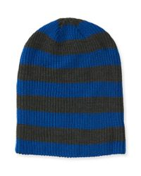 Aéropostale | Blue Striped Beanie | Lyst