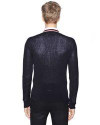 Moncler Gamme Bleu | Blue Virgin Wool Cardigan for Men | Lyst