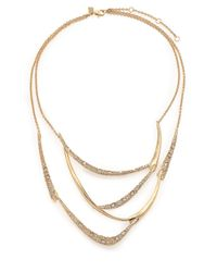 Alexis Bittar | Metallic Miss Havisham Jagged Crystal Draped Bib Necklace | Lyst