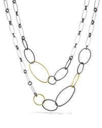David Yurman | Metallic Mobile Link Necklace With Gold | Lyst