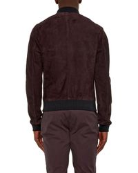 Dolce & Gabbana - Purple Suede Bomber Jacket for Men - Lyst