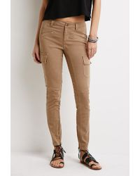 Forever 21 | Brown Zippered Cargo Pants | Lyst