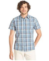 G.H. Bass & Co. - Blue Cascade Plaid Poplin Short Sleeve Shirt for Men - Lyst