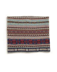 Ralph Lauren - Gray Girl'S Fair Isle Cotton & Merino Snood for Men - Lyst