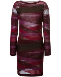 Emilio Pucci - Red Zebra Pattern Dress - Lyst