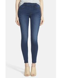 True Religion | Blue 'runway' High Rise Leggings | Lyst