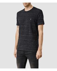AllSaints - Black Fraction Tonic Crew T-shirt for Men - Lyst
