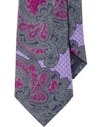 Ermenegildo Zegna | Purple Woven Tapestry Paisley Tie for Men | Lyst