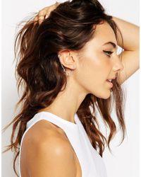 ASOS | Metallic Mini Leaf Link Ear Cuff | Lyst