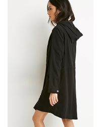 Forever 21 | Black Buttoned Wrap Cocoon Jacket | Lyst