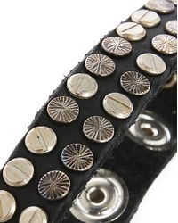 DIESEL | Black Studded Leather Bracelet for Men | Lyst