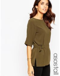 ASOS - Natural Double D Ring T-shirt - Lyst