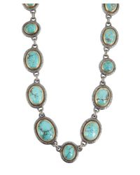 Gurhan | Blue Chinese Turquoise And Silver 'Muse' Stone Necklace | Lyst