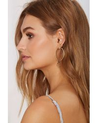 Nasty Gal | Metallic Jenny Bird 18K Gold Shakti Serpent Hoop Earrings | Lyst