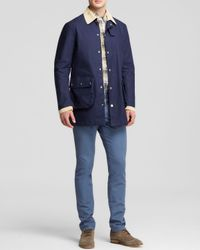 Hardy Amies - Blue Contrast Collar Sail Coat - Bloomingdale's Exclusive for Men - Lyst