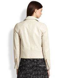 Marc By Marc Jacobs Natural Avery Leather Motorcycle Jacket