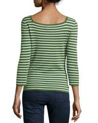 Michael Kors   Green 3/4-sleeve Cashmere Top   Lyst