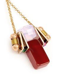 Scho - Red Electroplate Crystal Jade Dangle Earrings - Lyst
