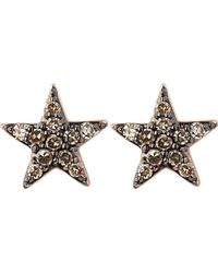 Links of London | Metallic Diamond Essentials 18ct Rose-gold Vermeil And Diamond Star Earrings | Lyst