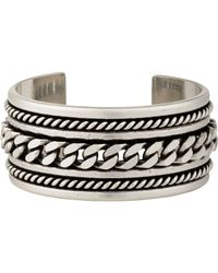 Saint Laurent | Metallic Silver Multi Twist Cuff | Lyst