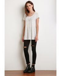 Forever 21 - Natural Slub Knit Trapeze Tee - Lyst