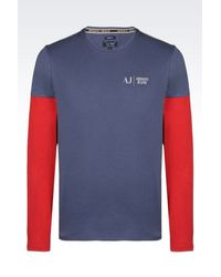 Armani Jeans | Blue T-Shirt In Cotton Jersey for Men | Lyst