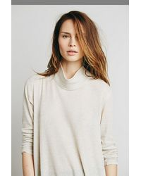Free People - Natural We The Free Wonder Woman Mock Neck - Lyst