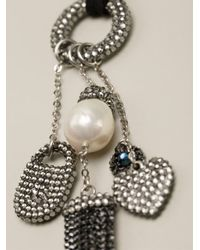 Roni Blanshay - Black Charm Necklace - Lyst