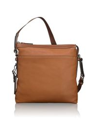 Tumi - Brown 'mission - Bartlett' Leather Crossbody Bag for Men - Lyst