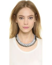 Adia Kibur - Metallic Lana Necklace - Clear/Silver - Lyst