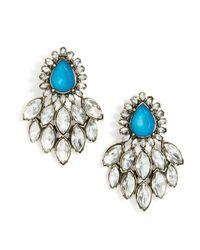 BaubleBar | Blue Peacock Chandelier Drops | Lyst